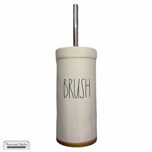 Rae Dunn BRUSH Toilet Brush Cleaner in White